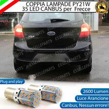 COPPIA LAMPADE PY21W CANBUS 35 LED FORD KA + FRECCE POSTERIORI NO ERROR