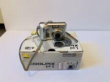 Nikon Coolpix P1 8.0 Megapixel Digital Camera Silver