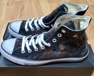 New Unisex CONVERSE Uni Hi-Top Acid Wash Destroyed Sneakers  Size 8.5MNS/10.5WNS