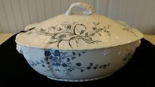 Flora design by W.H. Grindley & Co. England antique lidded tureen