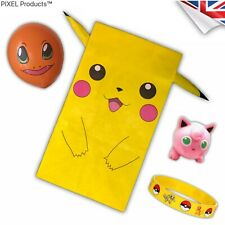 POKEMON Birthday Party Bag with fillers/favours - Balloon, wristband, Minifigure