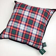"""Ralph Lauren Tartan Plaid Feather Fill Shell Zippered 20""""x20"""" Throw Pillow"""