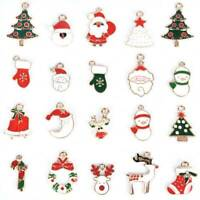 20Pcs Metal Alloy Mixed DIY Christmas Charms Pendant For Craft Jewelry Making