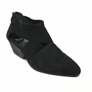 Women's Eileen Fisher Zip Up Wedge Sandals Clogs Shoes Size 9 Black Suede