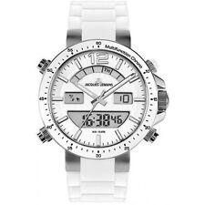 Jacques LeMans White Milano Watch