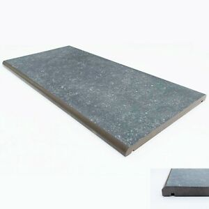 "Porcelain Coping Stone - 300x600mm - 12"" - Dark Grey - not concrete coping stone"