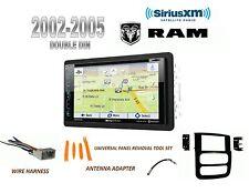 NEW 2002-2005 DODGE RAM PICKUP BLUETOOTH GPS NAV SIRIUS READY CAR STEREO COMBO