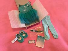New American Girl Ombré Ballet Set Dance Jazz Shoes Tutu Teal Beautiful Gorgeous