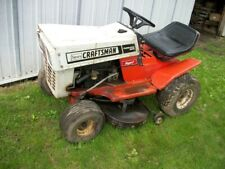 Vintage Craftsman (Sears) 1970'S Riding Lawnmower, Complete For Parts Or Restore