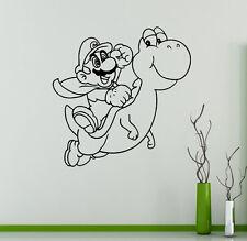 Super Mario Wall Vinyl Decal Video Game Vinyl Sticker Superhero Home Interior 13