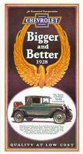 1928 CHEVROLET PASSENGER CAR SALES BROCHURE