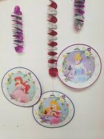 3 x Disney Princess Birthday Party Dangling Cutout Decorations