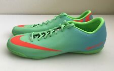 Nike Mercurial Victory IV IC Neo Lime Crimson Mens Sz 9.5 Indoor Soccer Shoes