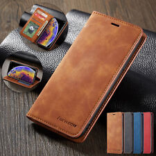 For Samsung S20 S21 Ultra A12 5G Leather Wallet Flip Case Stand Shockproof Cover