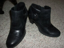 Born Ankle Boots Size 8 Black Booties Womens Zipper