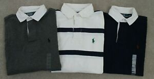Polo Ralph Lauren Men's Custom Fit Rugby Shirt Casual Collared BN RRP £105