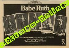 Babe Ruth Harvest Rec. LP Advert MM-HEKL