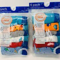12 Pair Wonder Nation Toddler Boys Boxer Briefs Underwear 2T-3T Car Truck Plane