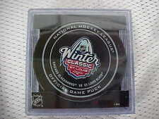 2017 NHL Chicago Blackhawks vs St. Louis Blues Winter Classic On Ice Puck W/Cube