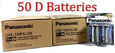50 Wholesale D Panasonic Battery Batteries super heavy duty Bulk Lot