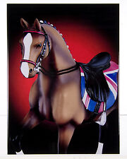"Trail of Painted Ponies BIG BEN Crystal Tile Plaque - Gloss Finish - 8"" x 10"""