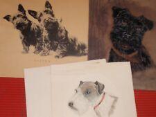 3 Scotty Dog / Terrier Prints Original Stitch
