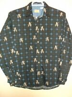 Unique VTG WRANGLER COWGIRLS western SHIRT womens XL  metal buttons Very nice
