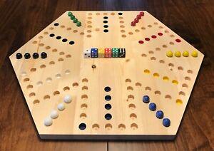 CUSTOM AGGRAVATION BOARD/ WAHOO WA HOO GAME! NEW! 6 PLAYER WITH CUSTOM MARBLES!