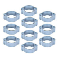"9//16/"" #562 DOUBLE WIRE SPRING HOSE CLAMPS 10 CLAMPS"