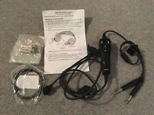 BOSE A20 HEADSET CABLE, STRAIGHT CABLE, DUAL GA PLUGS. NON-BLUETOOTH