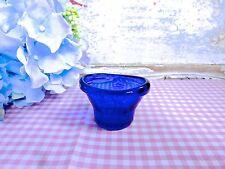 VINTAGE OPTREX SAFEGUARDS SIGHT EYE BATH - BLUE GLASS EYE BATH - OLD GLASS BATH