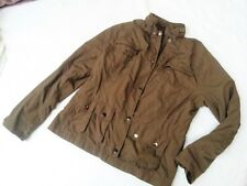Tolle pflegeleichte Damen Jacke braun Gr. 42 innenliegende Kapuze