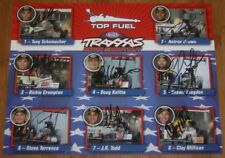 2015 NHRA Top Fuel Traxxas Shootout signed postcard 8 drivers Schumacher