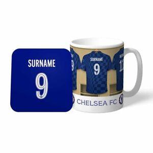 Chelsea F.C - Personalised Ceramic Mug & Coaster Set (DRESSING ROOM)