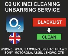 O2 UK Unbarring, Cleaning Service, iPhone, Samsung, LG, Alcatel, Sony, ZTE