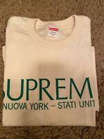 Supreme Nuova York T Shirt authentic natural size M brand new/unworn