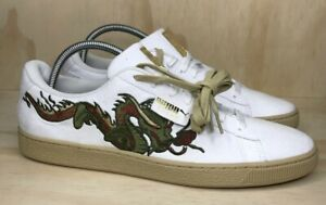 Puma Court Classic Japanese Dragon Patch Shoes Mens Size 12 New Fast Shipping