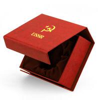 MOLNIJA Taschenuhrbox USSR Box Schatulle für Taschenuhr Hammer und Sichel CCCP