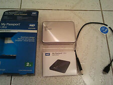 WD WESTERN DIGITAL PASSPORT ULTRA METAL EDITION SILVER 2TB HDD RARE