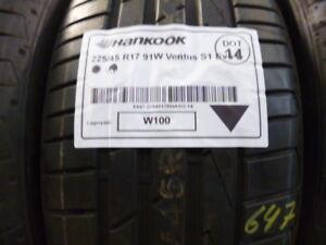 1x Sommerreifen HANKOOK 225/45 R17 91W Ventus S1 Evo 2 DOT14 - 7mm