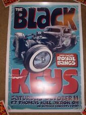 BLACK KEYS concert gig tour poster 10-11-08 AKRON OHIO 2008 art Greulich