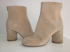 $1095 NEW MAISON MARTIN MARGIELA Tan Suede Ankle Boots SPRING SPARKLE! 38 7.5 8