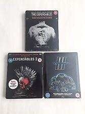 The Expendables Trilogy Blu-ray Steelbook [UK] HMV/Zavvi Exclusive! NEW!