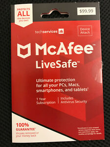 McAfee LiveSafe NEW and BEST ver. - Ultimate Protection for ALL of your Devices