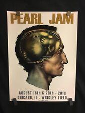 Pearl Jam Concert Poster Chicago Wrigley Field Cunningham Brain 2018 Aug 18 & 20