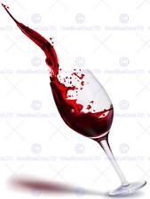 Peinture illustration vin rouge verre tilt splash art print poster MP3169B