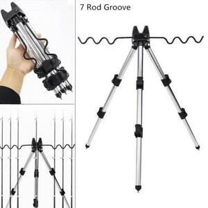 Fishing Rod Holder Aluminum Alloy Telescopic Tripod Stand for Fishing Poles