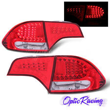 [LED] For 2006-2011 Honda Civic 4Dr Sedan Red Lens Tail Lights Pair
