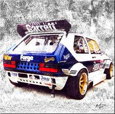 Golf 1 GTI Auto Motorsport  Rennwagen Bilder Leinwand Wandbild  329A