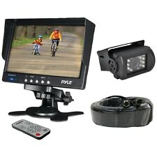 NEW Pyle Plcmtr71 Weatherproof Backup Camera System With 7'' Lcd Color Monitor &